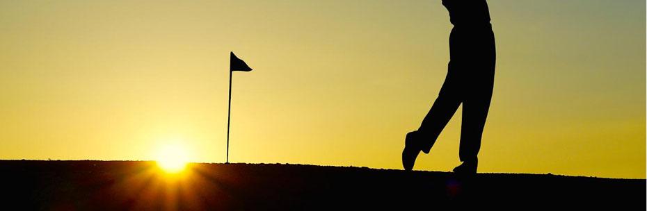 Golfen am Abend
